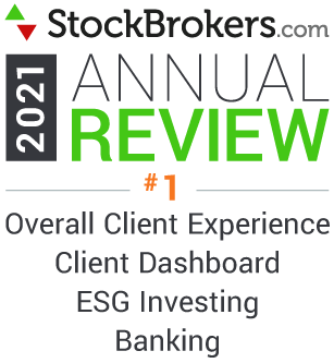 StockBrokers.com 2021 Annual Review #1 Overall Client Experience, Client Dashboard, ESG Investing, Banking