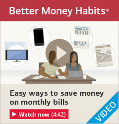 Watch 'Easy ways to save money on monthly bills'