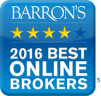 Barron's 2016 Best Online Brokers. 4 out of 5 stars.