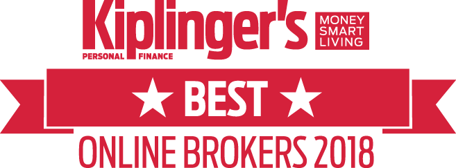 Kiplinger's logo for Best Online Brokers 2018