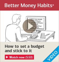 Watch 'How to set a budget and stick to it'